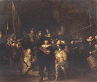 the company of captain frans banning cocq and lieutenant willem van ruytenburch - the night watch by johannes van der linde