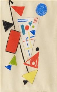 ohne titel (abstrakte komposition) 1949 by max ackermann