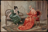 cardinal and lady gossiping by giuseppe aureli