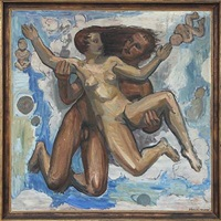 mythological composition with man and woman by anders gudmundsen-holmgreen
