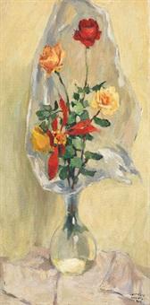 rose nel vaso by teonesto de abate