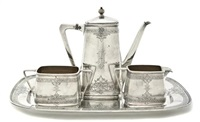 tea service (set of 4) by f. walter lawrence