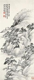 溪山雨意图 by xiao junxian
