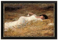 laying in the hay by vladimir vasilyev
