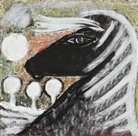 den lyse hest (the blond horse) by vibeke alfelt