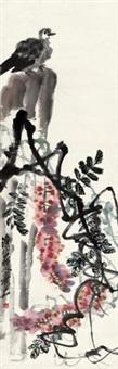 紫藤斑鸠 by qi ziru