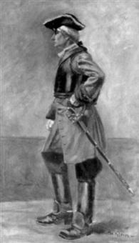 porträt eines jungen mannes in historischem kostüm by hugo klein