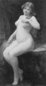 sitzender weiblicher akt by paul emmanuel legrand