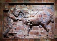 昭陵六骏-飒露紫1 (zhaoling's six horses) by dai yun