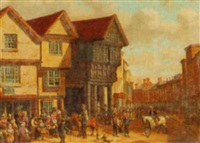 outside the royal george, barnstaple by joseph kennedy