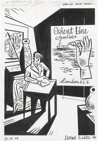 un après midi à drouot page 22 for orient line cruise by serge clerc