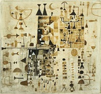 composition with figurines and signs by maar julius lange