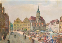 naumburger markt by fritz amann