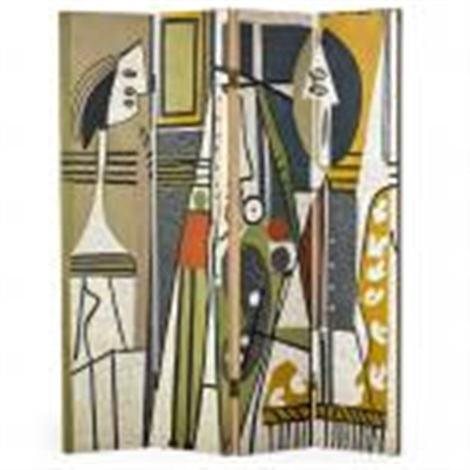 Artist and model four panel room divider by Pablo Picasso on artnet