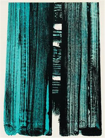 lithograph no 42 by pierre soulages
