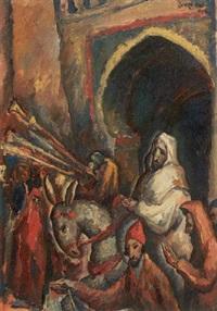 orientalische strassenszene (fez) by george baer