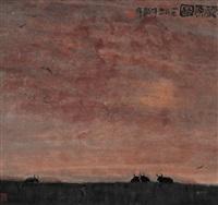 藏原图 (landscape) by zhou shaohua