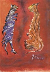 zwei katzen by felice filippini