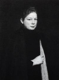 portrait einer jungen rotblonden frau by johannes cathrine krebs