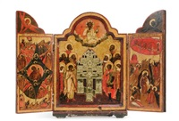 triptych of the crucifixion by anonymous-russian (18)