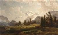 mountainous landscape by cäsar metz