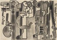 ohne titel (abstrake kompositionen) by max ackermann