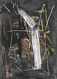 tavle (black-board painting) by per kirkeby