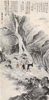 溪山行旅图 (travelling in mt.xi) by jiang xuansheng