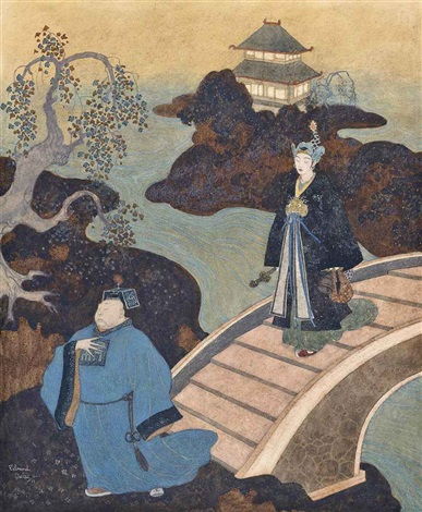 camaralzaman as an astrologer from princess badoura a tale from the arabian nights by edmund dulac