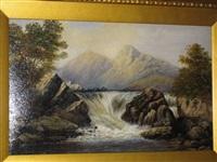 waterfall landscape by j. smith