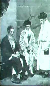 drei rabbiner im gesprach by a. von ritter