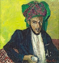 man with green turban, zanzibar by freida lock