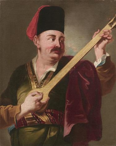 ein orientalischer musiker by giuseppe angeli