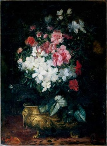 nature morte au bouquet de fleurs by lucien joulin