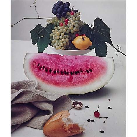 still life with watermelon new york by irving penn
