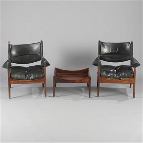 modus easy chairs and table set of 3 by kristian solmer vedel