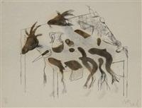 acróstico de cabras i y ii by miquel barceló