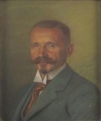 portrait des wolfgang stock, rektor an der universität tübingen by hans lietzmann