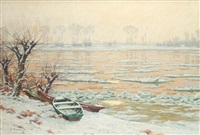 winter am niederrhein by alfred rasenberger