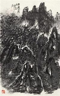 祁连山夜色 (landscape) by zeng laide