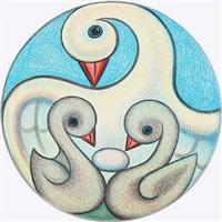 swan mother by henry heerup