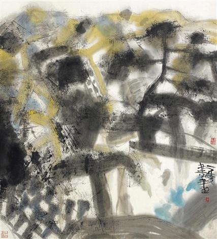 彩色家园之一 landscape by xiao qingshu