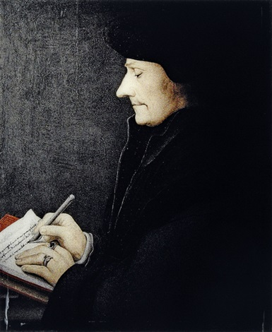 selective attention portrait of erasmus holbein by clegg guttman