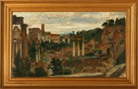 overlooking forum romanum by august torsleff