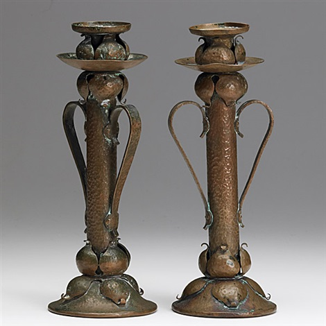 candlesticks 2 pieces by onondaga metal shops