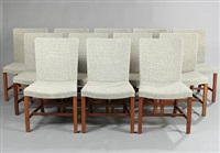 high-backed chairs (set of 12) by knud andersen