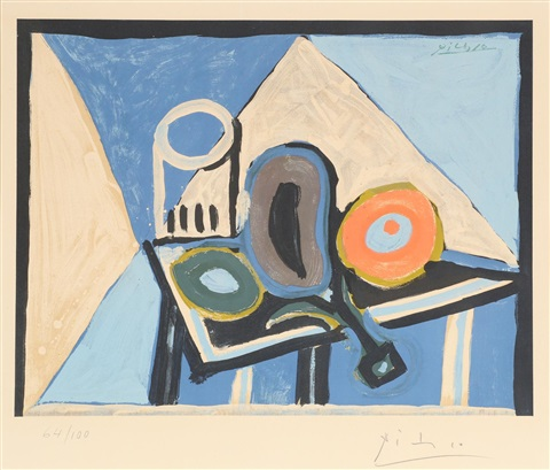 Nature morte à lAubergine - 1953 by Pablo Picasso on artnet