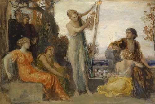 die musik study by friedrich august von kaulbach