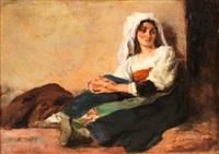 mujer italiana by josé garnelo y alda