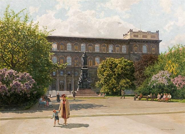 View Of The Schillerplatz And The Academy Of Fine Arts Vienna By